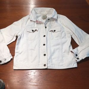 L.L.Bean white jean jacket